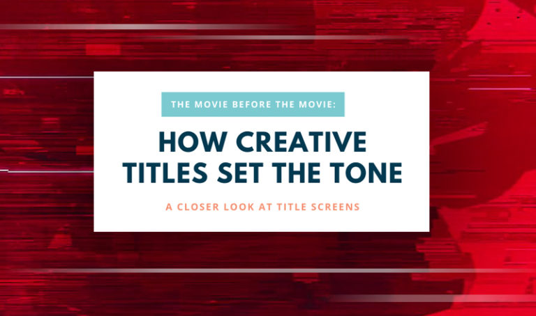 "Title slide with the text ""How Creative Titles Set the Tone"""